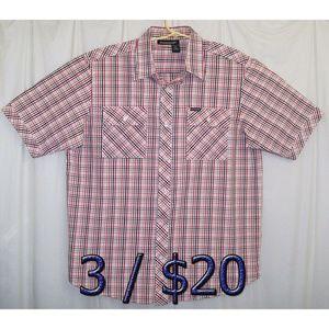 3/$20 Rocawear Button Shirt Men's XL Checkered